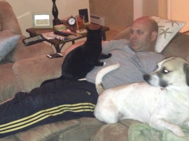 Brian Simonsen with his Pets