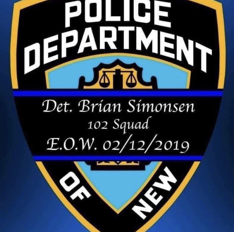 "In memory of Detective Brian ""Smiles"" Simonsen"